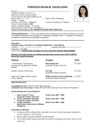 Examples Of Resumes Job Resume Sample Biodata For Indian It