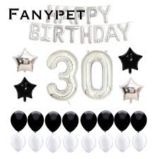 Congratulation Party Decorations 35pcs 40inch Large American Design Number Balloon 30 Old Birthday