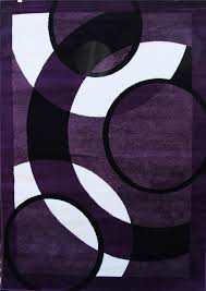 purple white black modern area rug 2x3 4x5 5x7 8x11 purple and white area rugs