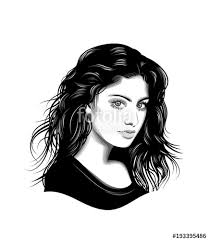 Woman Vector Portrait Stock Image And Royalty Free Vector Files On