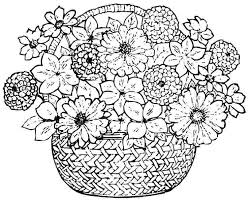 Print Out Flower Coloring Pages Spring Flowers Sheets Page Printable