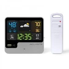 quick view alarm clock with weather forecast