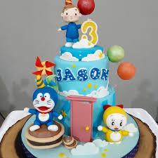 Jual Kue Ulang Tahun Kue Doraemon Birthday Cake Kue Fondant