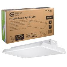 Commercial Electric 2ft Led Shop Light Commercial Electric 2 Ft 400 Watt Equivalent Integrated Led Dimmable White High Bay Light High Output 18 000 Lumens 5000k Daylight