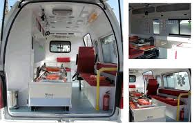The more patient-friendly interior concept of Life EMS Ambulance's concept  vehicle has soft lighting and artwork to help create a more relaxing  atmosphere ...