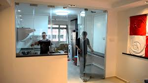 protect smell and oily smoke escape from open concept kitchen frameless door system close you