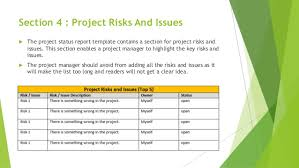 Project Status Sheet Beauteous One Page Effective Project Status Report