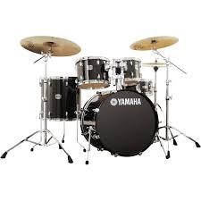 yamaha drum set. yamaha stage custom birch acoustic 5-piece drum set (raven black) y