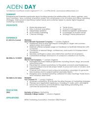 Resume Examples For Marketing