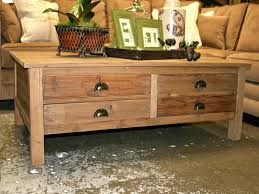 image of popular rustic storage coffee table
