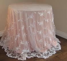 beautiful round tablecloths for your dining table decor idea peach with lace round tablecloths for