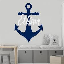 boy name wall decal nautical name decal