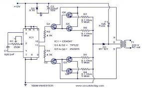 100 watt inverter circuit