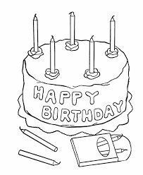 Small Picture Awesome Birthday Cake Coloring Pages Printable 17 For Free