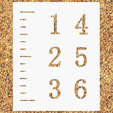 Lekusha Create Your Own 6 Feet Growth Chart Ruler Stencil 12 Mil Durable Reusable Height Chart Template Great For Painting Kids Measuring Chart Fit