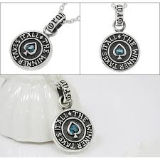 pendant top london blue topaz cards the winner takes it all english sentence nature stone silver 925 men s necklace brand popularity gift present boyfriend