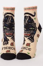Blue Q Fierce Ankle Socks - Front Cropped Image
