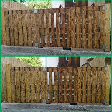 wooden fence designs ideas best media cache ak0 pinimg originals inspirations of wood and iron fence