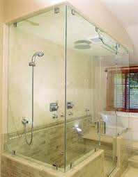 shower enclosures tampa. Unique Shower Frameless Allglass Shower Enclosure With Ceiling Mounting And Swinging Door In Shower Enclosures Tampa N
