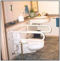 handicap bars for bathrooms toilets. fold down grab bars around a toilet handicap for bathrooms toilets