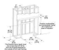 fireplace framing framing a woodburning fireplace insert diagram