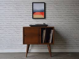 mid century record cabinet. Home Interior: Emerging Record Storage Furniture Eiden Cabinet Mid Century Modern Inspired From