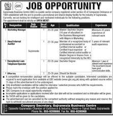 Gujranwala Business Center Gbc Jobs 2018 For Receptionist