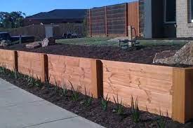 modern timber retaining wall ideas