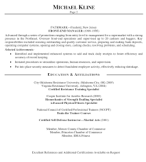 Resume Format For Gym Trainer Example Good Resume Template