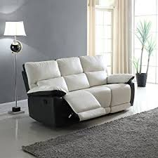 reclining living room set. modern two tone bonded leather oversize recliner living room set (3 seater) reclining