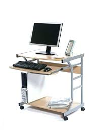 small rolling desk computer portable on wheels with ikea