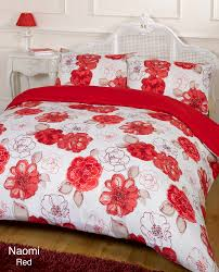red and white bedding. Contemporary Red Duvet Quilt Cover Bedding Set Red White Single Double King Kingsize Super  To And S