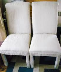 parson chairs classic creamy white faux leather parson chairs set
