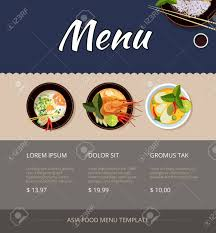 breakfast menu template thai food menu template design price and buy shrimp and cuisine