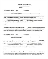 Printable Rental Agreement Template Blank Rental Agreement 14 Free Word Pdf Google Docs