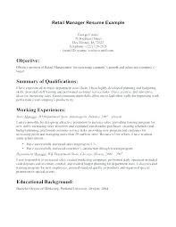 Resume Objective For Retail Cool Objective For Resume In Retail Retail Objectives For Resumes Sales