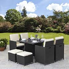 rattan garden furniture images.  Images Rattan Cube Garden Furniture Set 8 Seater Outdoor Wicker 9pcs Black And Images