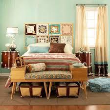 Plain Modern Vintage Bedroom On Wide Wooden Headboard White Cream Lace