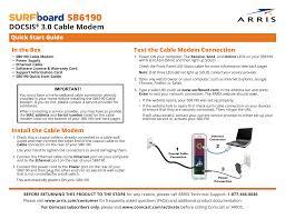 Arris Cm8200 Lights Sb6190 Docsis 3 0 Cable Modem Quick Start Guide Manualzz Com