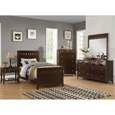 Mirror Bedroom Furniture Trilogy Bedroom Bed Dresser Mirror Cappuccino Twin 67274