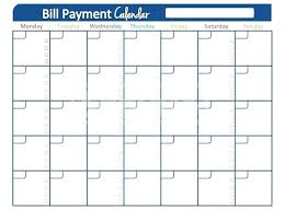 Payroll Calendar Template Interesting Payment Schedule Template Pay Bill Monthly Free Bills To Weekly