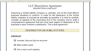 Business Dissolution Agreement LLC Dissolution Agreement YouTube 1