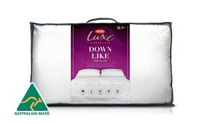 Down-like amp; - High Luxe Australia Bedding Tontine Support Pillow Firm