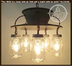 Exclusive Lamp Goods's Mason Jar CHANDELIER 5-Light