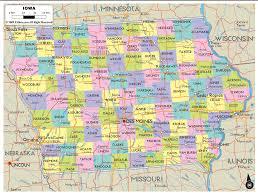 detailed political map of iowa  ezilon maps