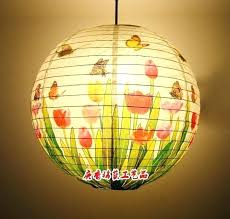 paper lantern hanging lamp year round home decoration art shade restaurant tulip pendant lights