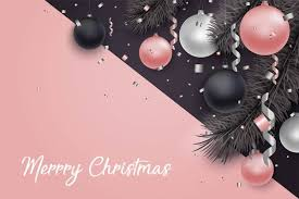 Pink Christmas Card Pink With Black Christmas Card Vector Material Free Download