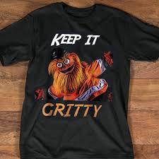 Mascot Size Chart Us 11 89 15 Off Keep It Gritty Philly Flyers Hockey Mascot Shirt Black Cotton Men T Shirt Cartoon T Shirt Men Unisex New Fashion Tshirt Free In