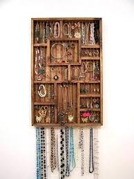 wooden jewelry holder