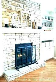 fake stone fireplace faux ideas rock for painting fir modern faux fireplace